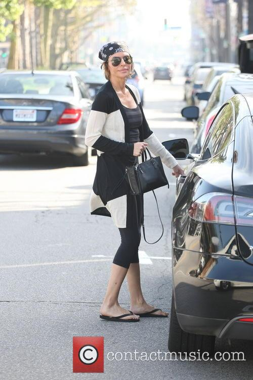 Actress Lisa Rinna is all smiles as she...
