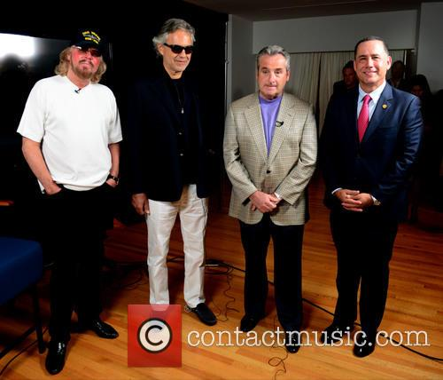 Barry Gibb, Andrea Bocelli, James Allen and Philip Levine 8
