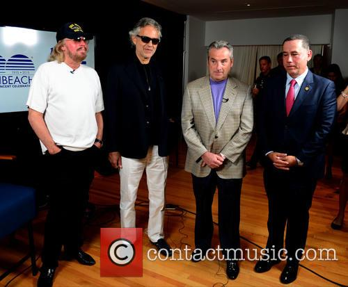 Barry Gibb, Andrea Bocelli, James Allen and Philip Levine 9