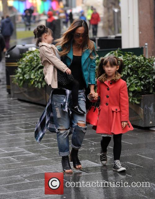 Myleene Klass and her daughters at Global