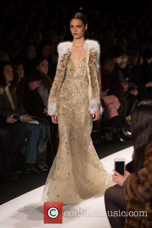 Mercedes-benz New York Fashion, Week, Dennis Basso and Catwalk 9