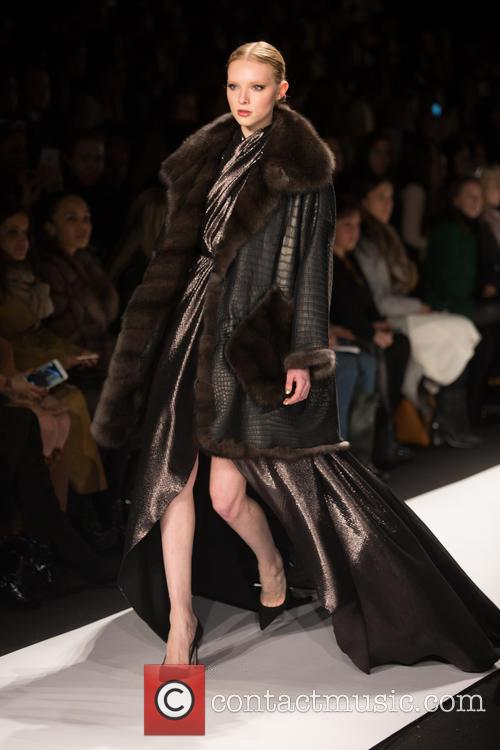 Mercedes-benz New York Fashion, Week, Dennis Basso and Catwalk 1