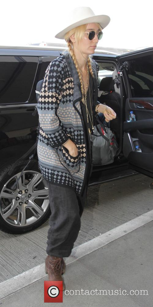 Ruby Stewart departs Los Angeles International Airport