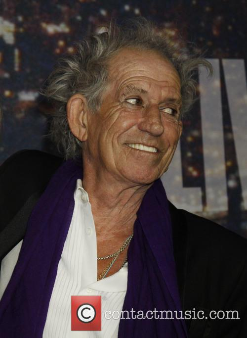 Keith Richards on red carpet for Saturday Night Live
