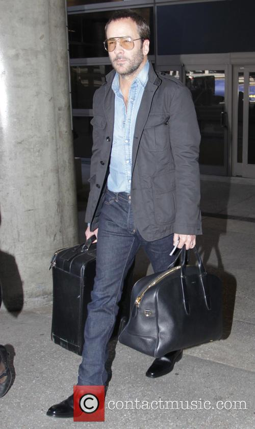 Tom Ford arrives at Los Angeles International Airport