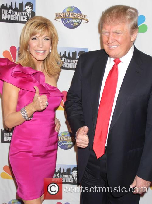 Leeza Gibbons and Donald Trump