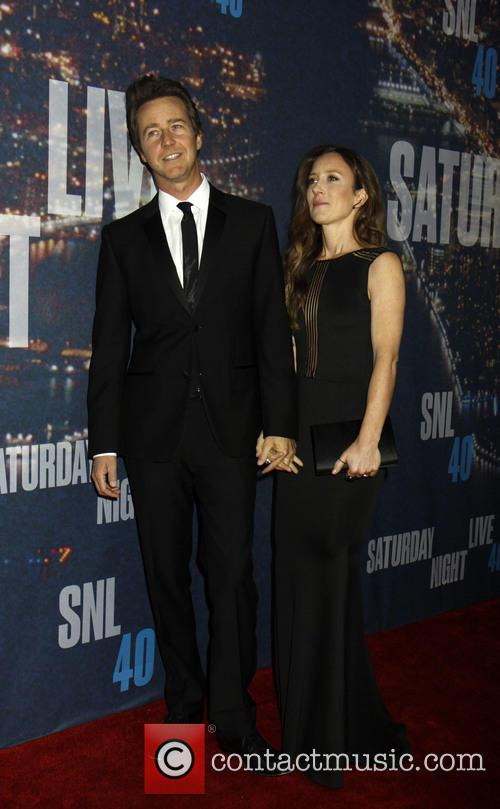 Ed Norton and Wife