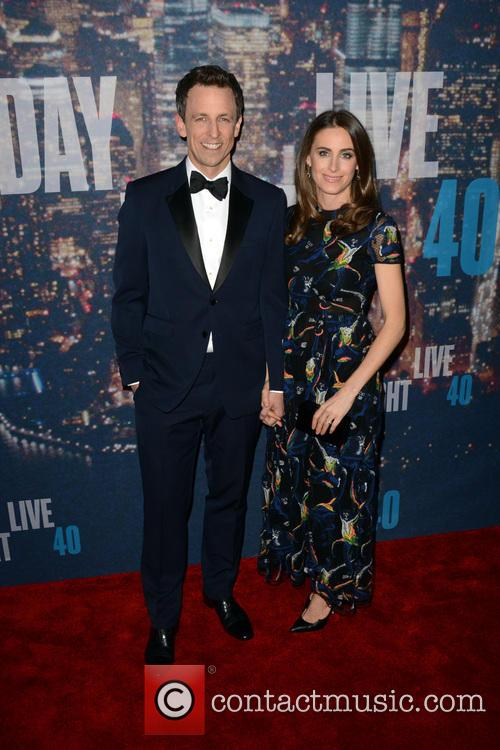 Seth Meyers and Alexi Ashe 1