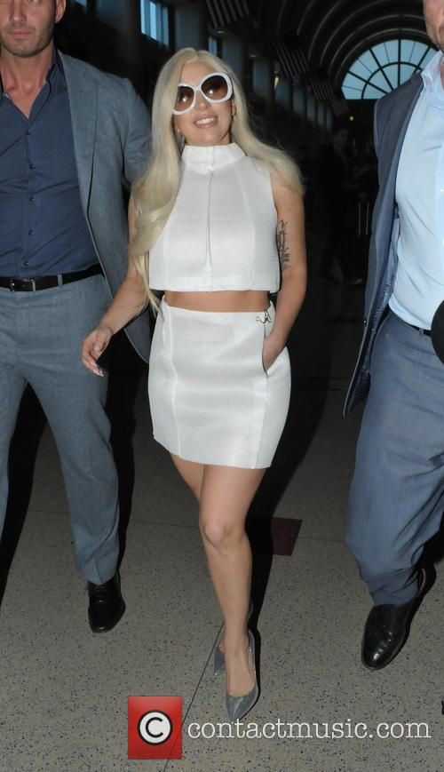 Lady Gaga at Los Angeles International Airport (LAX)