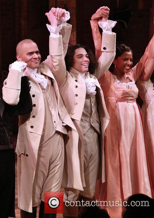 Christopher Jackson, Anthony Ramos and Renee Elise Goldsberry 2