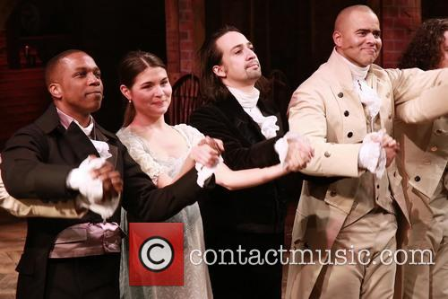 Leslie Odom Jr., Phillipa Soo, Lin-manuel Miranda and Christopher Jackson 1