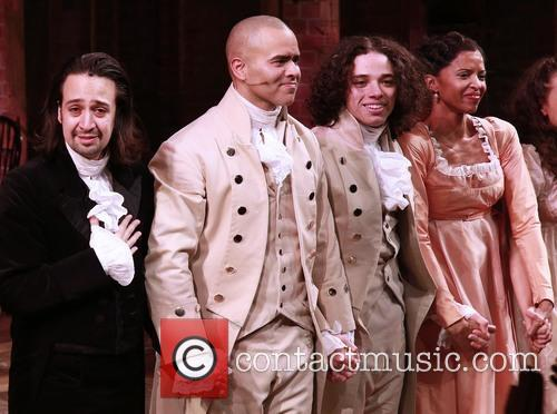 Lin-manuel Miranda, Christopher Jackson, Anthony Ramos and Renee Elise Goldsberry 2