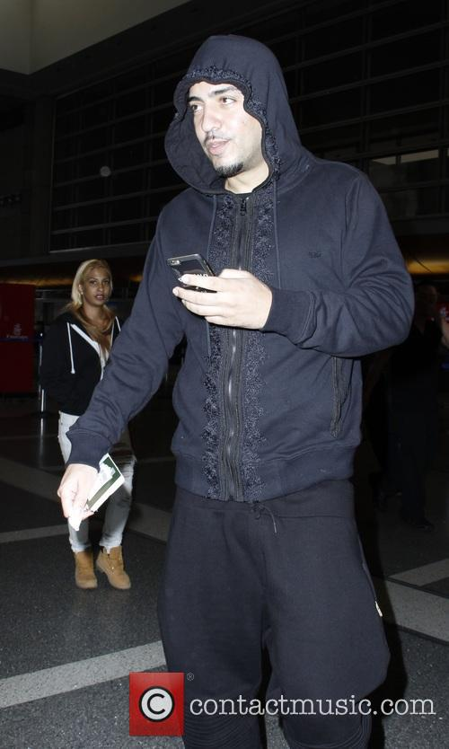 French Montana at Los Angeles International Airport (LAX)