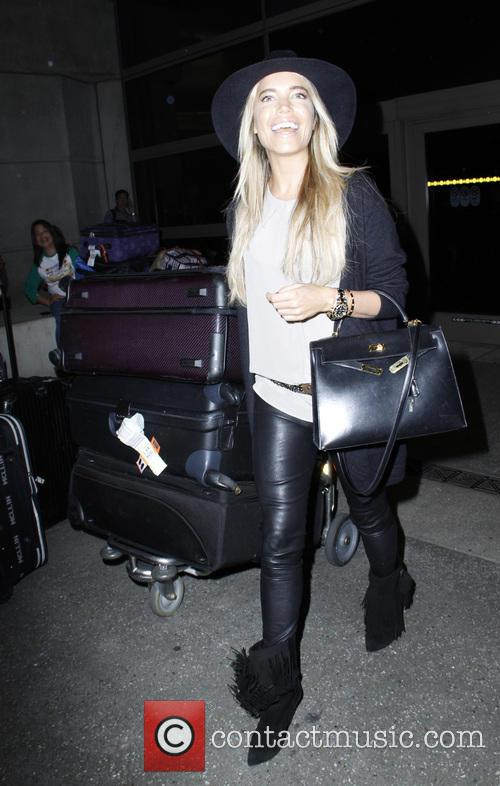 Sylvie van der Vaart arrives at Los Angeles...