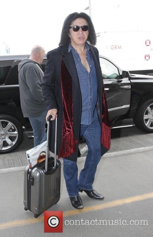 Gene Simmons at Los Angeles International Airport (LAX)