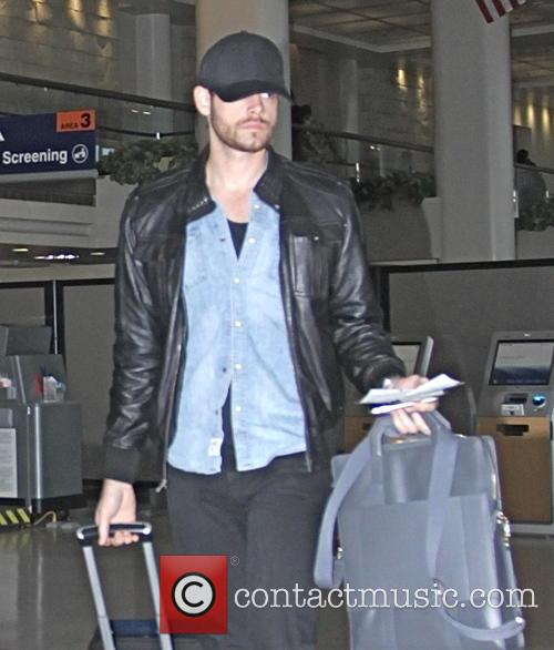 Jamie Dornan at Los Angeles International Airport (LAX)