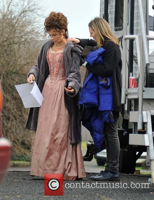Kate Beckinsale on the set of Love and...