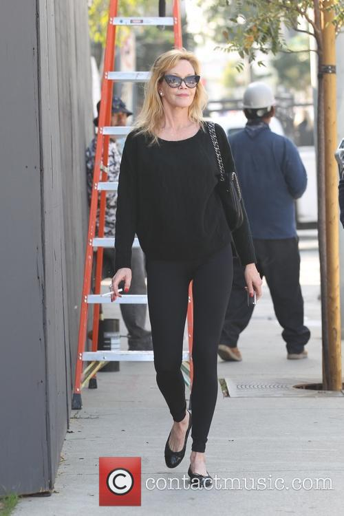 Melanie Griffith leaving Zinque cafe on Melrose Avenue
