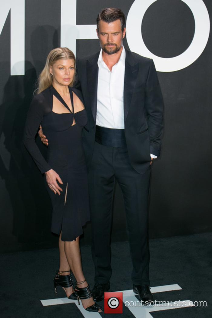 Fergie and Josh Duhamel at Tom Ford 2015 Autumn/Winter show