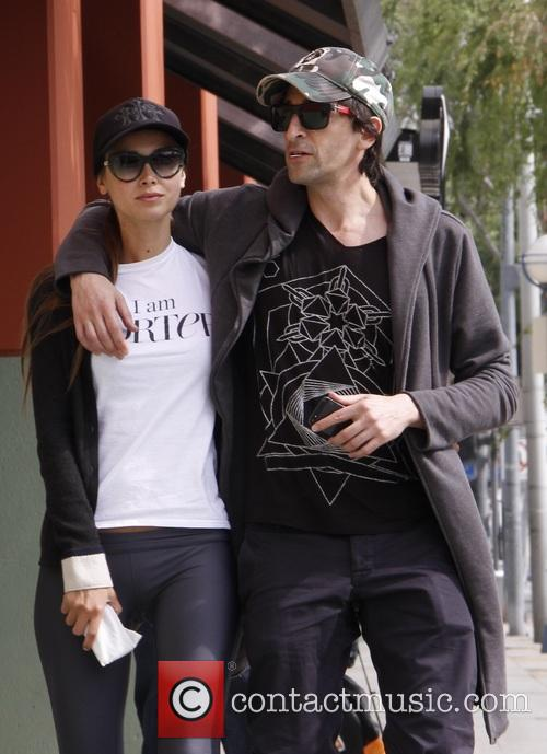 Adrien Brody and Lara Lieto can't keep their...