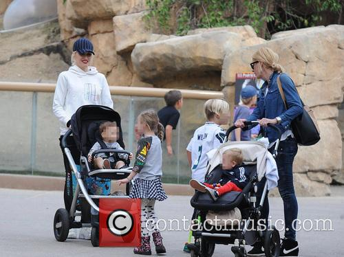 Apollo Rossdale, Zuma Rossdale and Gwen Stefani 11