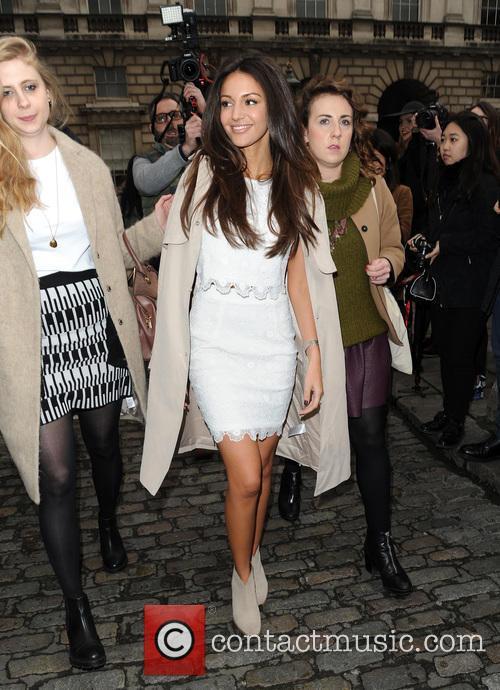 Michelle Keegan at London Fashion Week