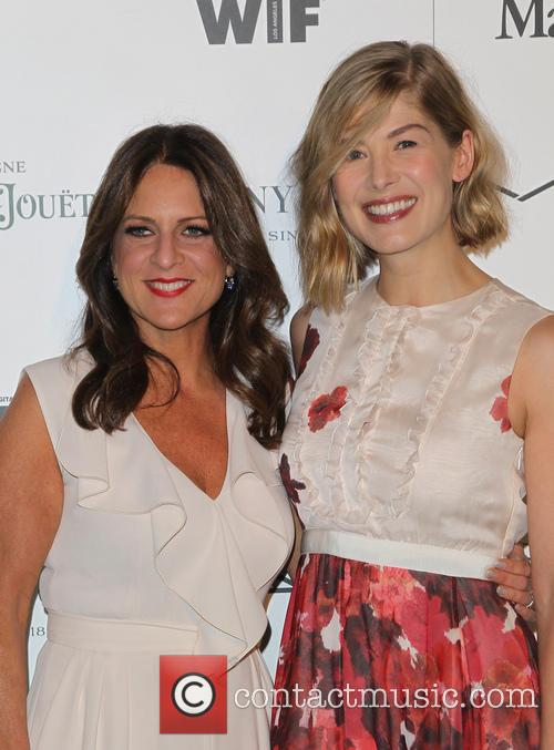 Cathy Schulman and Rosamund Pike 4