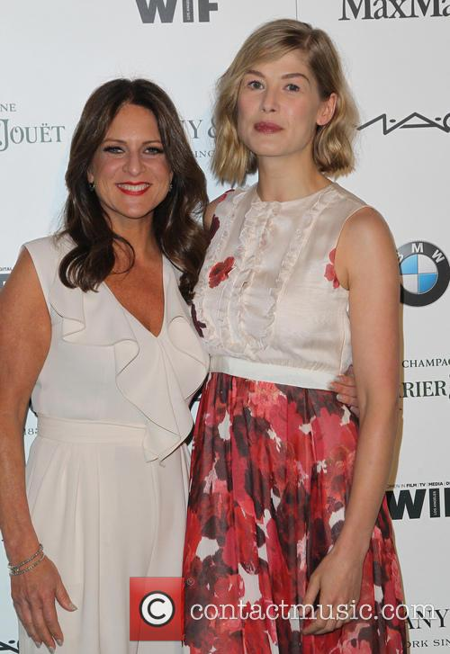 Cathy Schulman and Rosamund Pike 1
