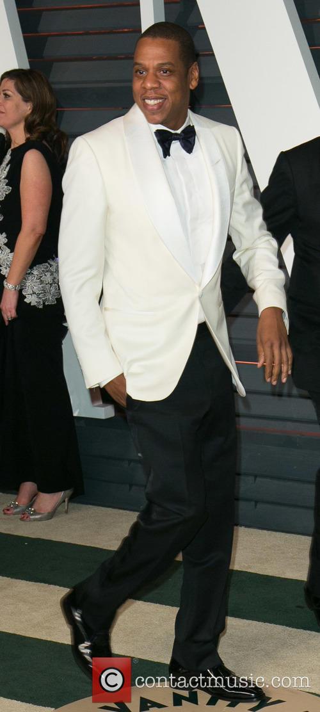Jay-Z at the Vanity Fair Oscar party
