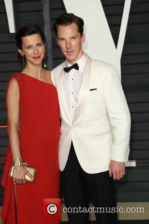 Sophie Hunter and Benedict Cumberbatch at the 2015 Vanity Fair Oscar Party