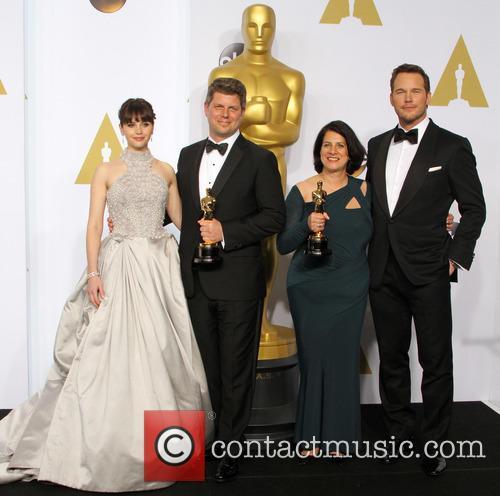 "Felicity Jones, Production Design For ""the Grand Budapest Hotel"": Adam Stockhausen, Anna Pinnock and Chris Pratt 4"