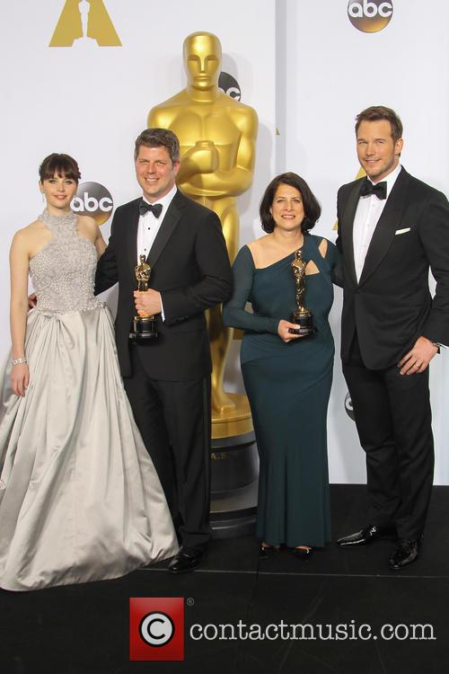 Felicity Jones, Adam Stockhausen, Anna Pinnock and Chris Pratt 2