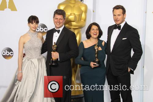 Felicity Jones, Adam Stockhausen, Anna Pinnock and Chris Pratt 4