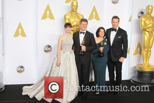 Felicity Jones, Adam Stockhausen, Anna Pinnock and Chris Pratt 6
