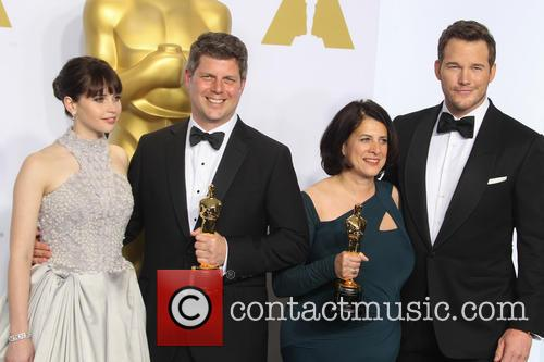 Felicity Jones, Adam Stockhausen, Anna Pinnock and Chris Pratt 1