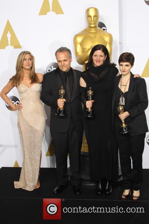 Jennifer Aniston, Dirk Wilutzky, Laura Poitras and Mathilde Bonnefoy 3