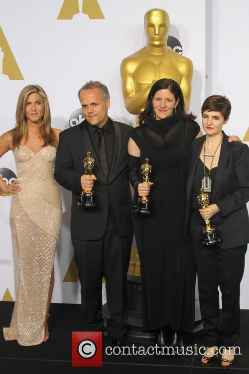 Jennifer Aniston, Dirk Wilutzky, Laura Poitras and Mathilde Bonnefoy 4