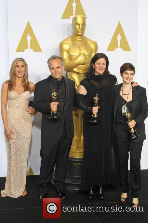 Jennifer Aniston, Dirk Wilutzky, Laura Poitras and Mathilde Bonnefoy