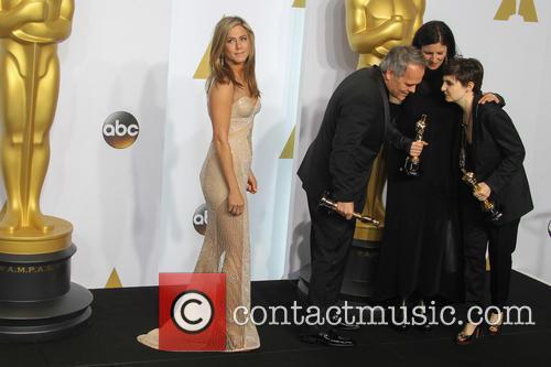 Jennifer Aniston, Dirk Wilutzky, Laura Poitras and Mathilde Bonnefoy 1
