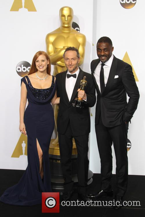 Jessica Chastain, Emmanuel Lubezki and Idris Elba 2