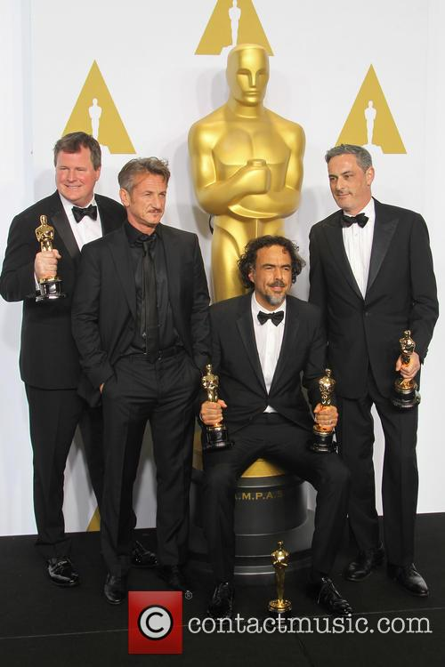 James W. Skotchdopole, Sean Penn, Alejandro G. Inarritu and John Lesher 2