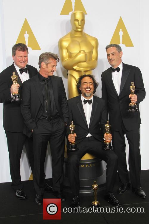 James W. Skotchdopole, Sean Penn, Alejandro G. Inarritu and John Lesher 3