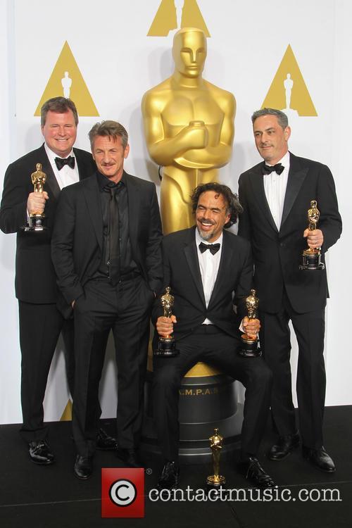 James W. Skotchdopole, Sean Penn, Alejandro G. Inarritu and John Lesher 4