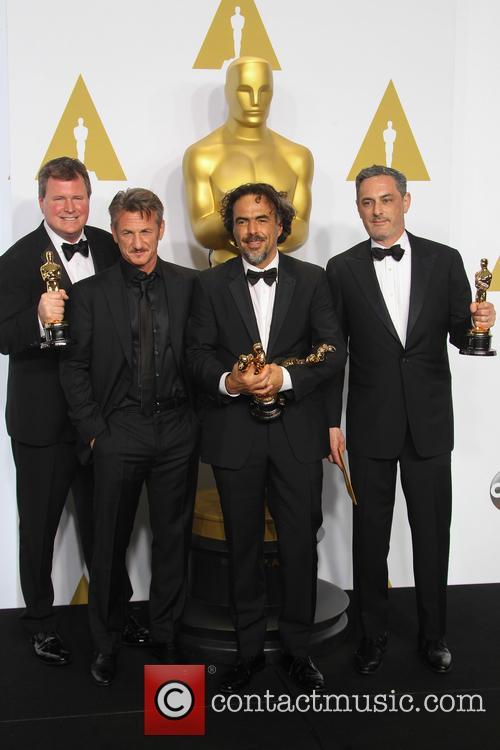 James W. Skotchdopole, Sean Penn, Alejandro G. Inarritu and John Lesher 5