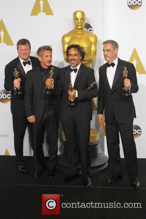 James W. Skotchdopole, Sean Penn, Alejandro G. Inarritu and John Lesher 1