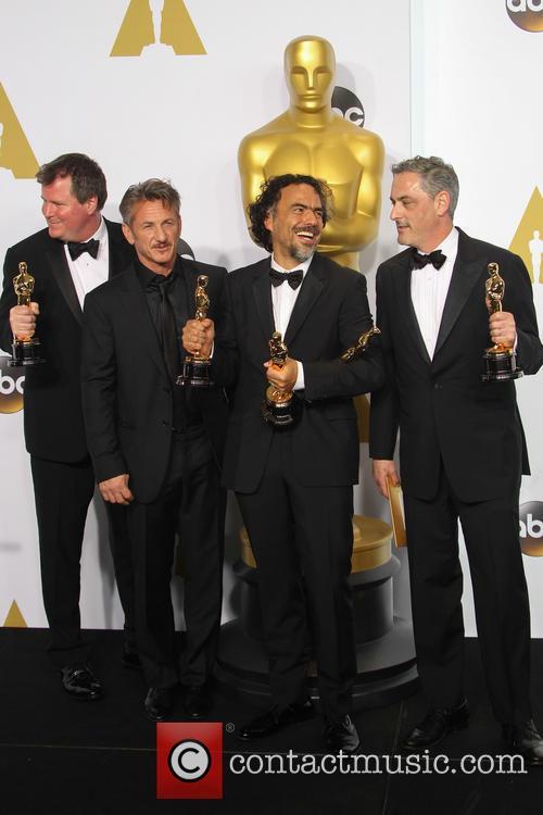 James W. Skotchdopole, Sean Penn, Alejandro G. Inarritu and John Lesher 6