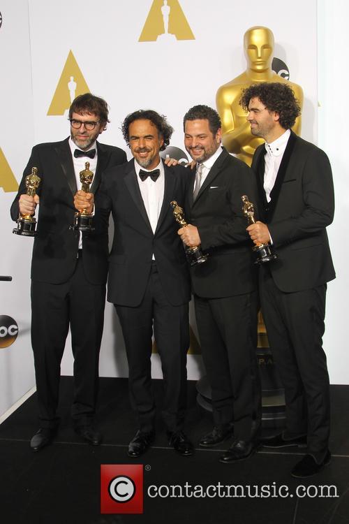 Nicolas Giacobone, Alejandro Gonzalez Inarritu, Alexander Dinelaris and Armando Bo 2