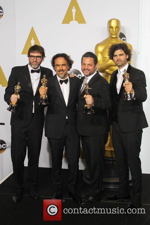 Nicolas Giacobone, Alejandro Gonzalez Inarritu, Alexander Dinelaris and Armando Bo 3