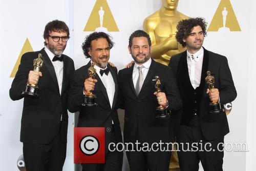 Nicolas Giacobone, Alejandro Gonzalez Inarritu, Alexander Dinelaris and Armando Bo 4