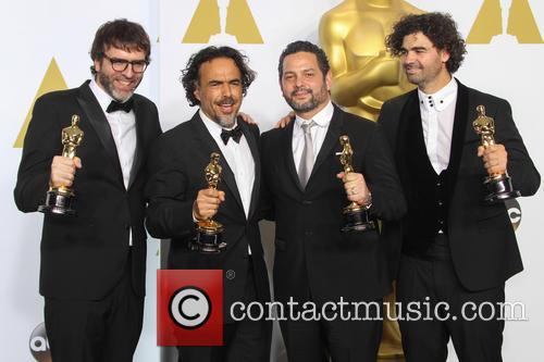 Nicolas Giacobone, Alejandro Gonzalez Inarritu, Alexander Dinelaris and Armando Bo 5